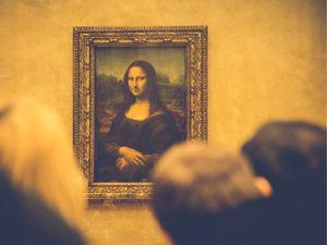 Students Looking at the Mona Lisa