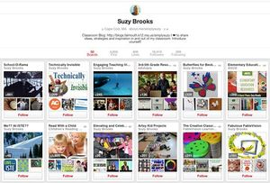 A screen grab of 12 Pinterest boards