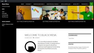 Screen shot of the Black Mesa web page