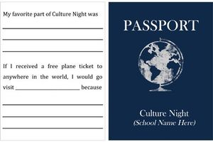 A passport template to fill-in for Culture Night