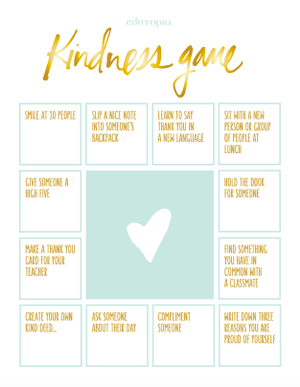 The Kindness Game Activity
