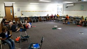 A classroom ready for furniture -- and project-based learning!