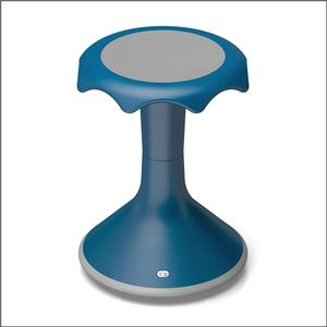A blue hokki stool