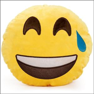 A smiley face pillow