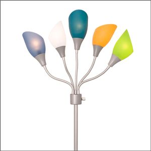 A colorful floor lamp