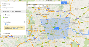 Google My Maps in England