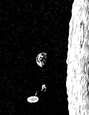 A page from T-Minus: The Race to the Moon