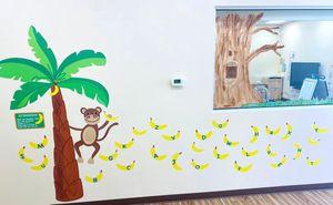 Indoor sensory path on wall