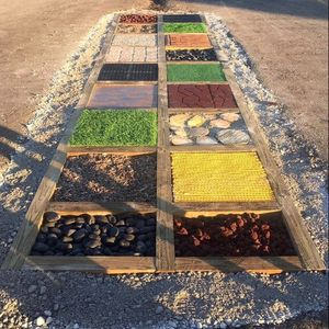 Tactile path at Walter Shade Early Childhood Center in West Carrollton, Ohio