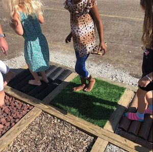 Children on tactile path