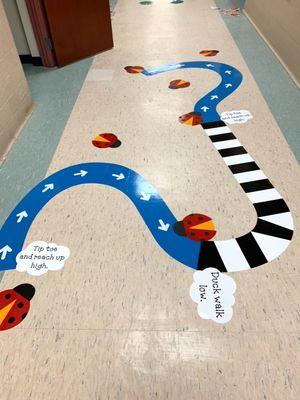 Indoor sensory path