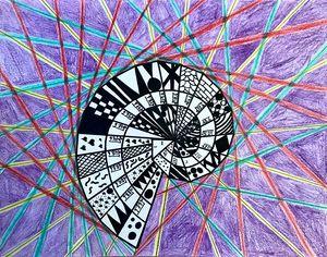 Student artwork from EL Education spiral