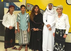Students at Marble Hill High School dress in costume for the annual international dinner.