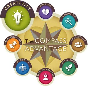 The Compass Advantage: Creativity, Empathy, Curiosity, Sociability, Resilience, Self-Awareness, Integrity, and Resourcefulness